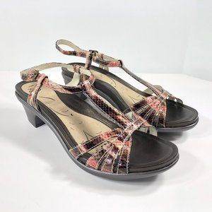 Abeo Biosystem Georgie Heeled Sandals T-Strap NWOB